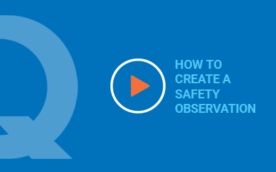 How to Create a Safety Observation
